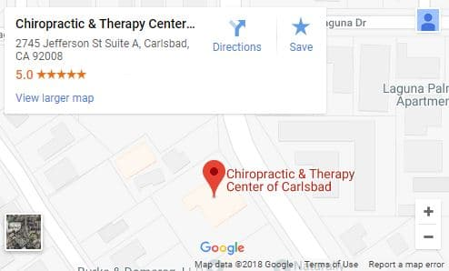Map of Carlsbad Chiropractor